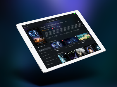 Blast from the past - TunedIn Showpage below the fold card cards posters ux ui dark ios app movie app design show interface