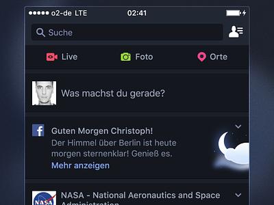Facebook Night Mode iphone ios icon icons interface ux ui night dark mode dark app facebook