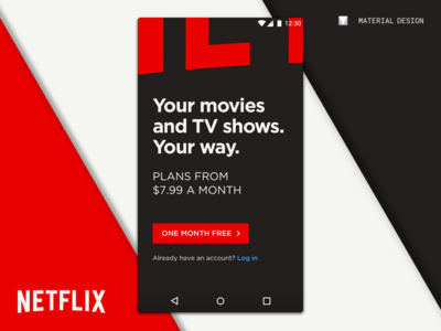 Netflix for Android ux concept sketch google md material design app interface ui netflix android