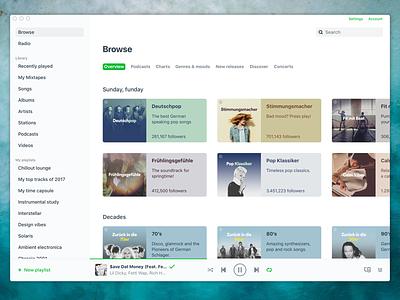 Spotify Light interface screen window player music green white light ui ui light mac app spotify