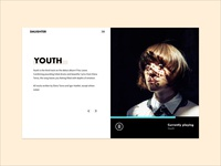Minimal web design concept