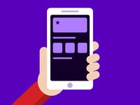 App Store illustration flat design