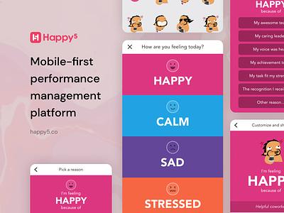 Happy5 Mobile App mobileapp mobile uiux ui