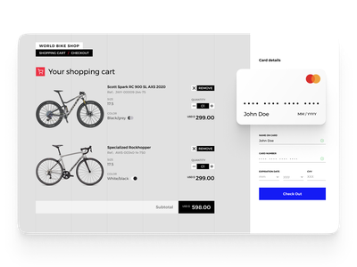 Challenge 002 #dailyUI - Checkout form dailyui 002 desktop dailyui ecommerce bike form checkout
