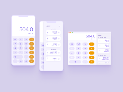 Challenge 004 #dailyUI - Calculator app ios calculator mobile desktop dailyui 004 dailyui