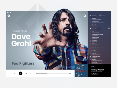 Challenge #009 dailyui 009 dailyui desktop player music foo fighters