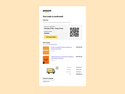 Challenge #017 receipt email amazon dailyui 017 dailyui