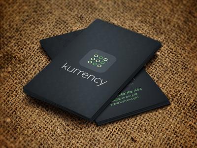 Kurrency logo brand green blue money
