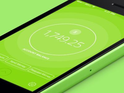 Digital Money App upgrade money ios app iphone green