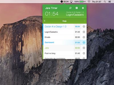 Jera Timer for MacOS jera green app timer macos desktop