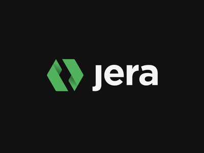 Jera Rebrand design icon green jera logo