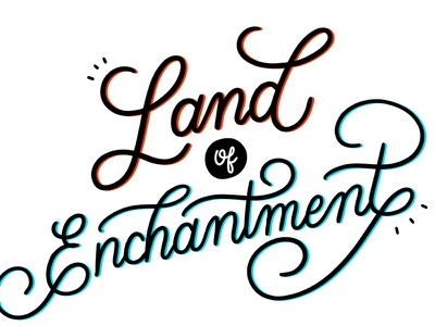 Land of Enchantment hand lettering lettering procreate