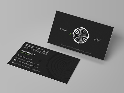 Southpaw woodworking business card by alex garnett dribbble southpaw woodworking business card colourmoves