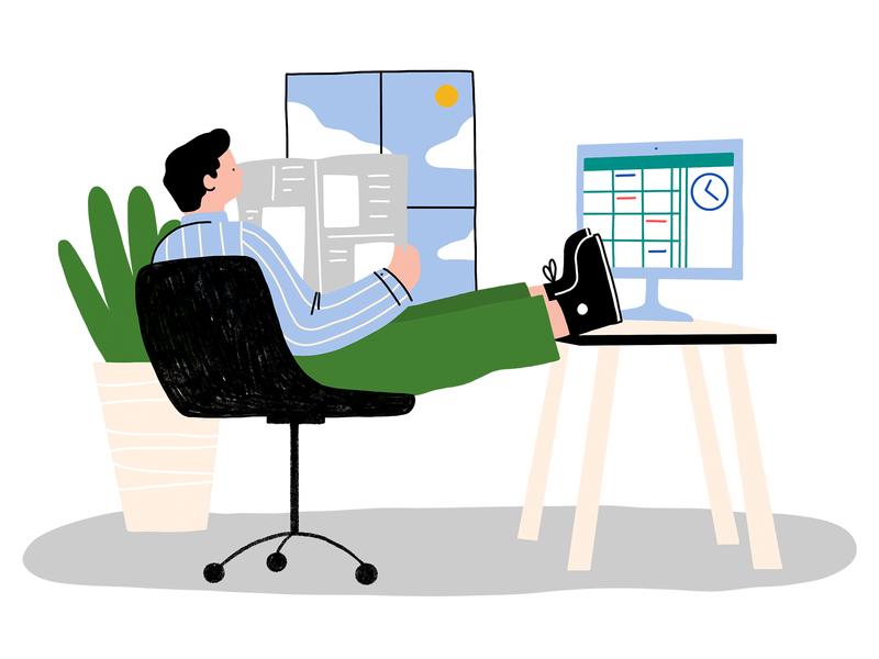 TGIF hero image procreate line art product web character design illustration