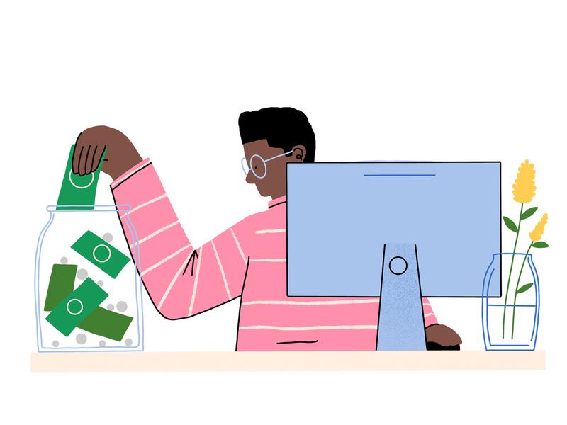 Budget Planning planning budget branding spot illustration web illustration design illustration