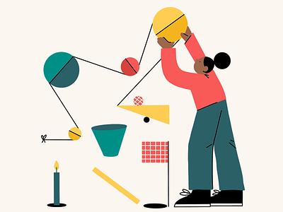 Rube Goldberg Illustration branding design procreate editorial digital illustration