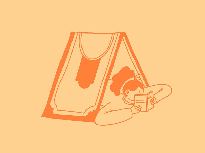 Money Tent Illustration book branding design procreateapp procreate illustration