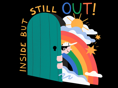 Inside But Still Out! lgbtq lettering procreate app procreate design illustration