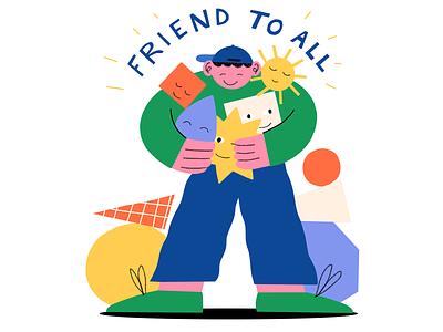 Friend to All! friend lettering procreate art digital procreate illustration
