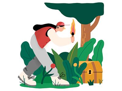 Treasure Hunt budget savings money procreate editorial magazine illustration illustration
