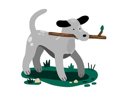 Dog Spot animals kids childrens illustration dog digital procreate editorial illustration