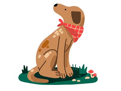 Another dog spot icon drawing spot cute animal procreate digital illustration dog