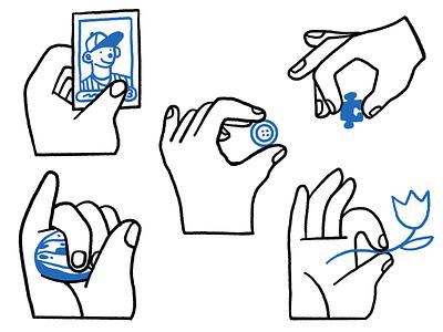 Hand Icons illustration ux icon set hands branding ui logo procreate product illustration icons