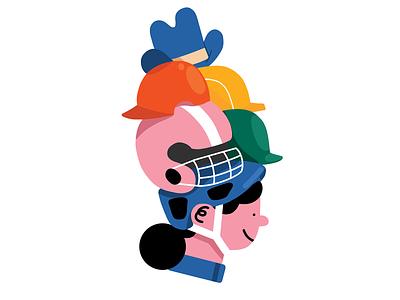 The right helmet for you! digital branding spot illustration cycling icon spot procreate design editorial illustration