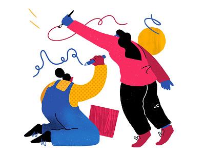 Creative Teams Hero illustration