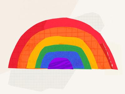 Pride! paper shapes exploration design illustration
