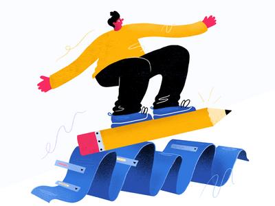 Form Hero Illustration surfs up dude ui ux web design illustration airtable forms