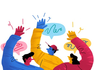 Hey! characters ux design header airtable onboarding illustration