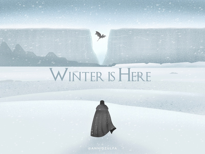 Winter is Here landing page design art animation 2d illustration dragon game of thrones winter