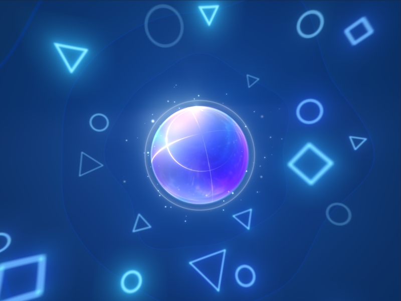 Energy ball glow shapes motion design ball energy