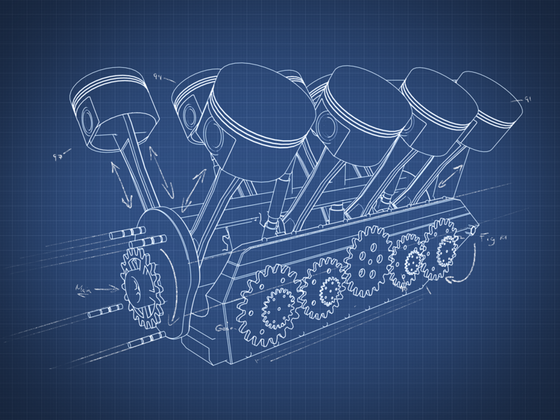 Blueprint engine style frame engine blueprint