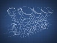 Blueprint engine style frame