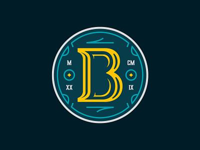 The Bend Monogram identity logo design branding