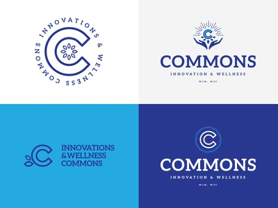 Dribble Commons wellness design commons branding logo