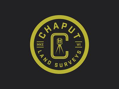 Chaput Land Surveys Icon design logo surveyor identity branding
