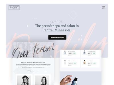Daylily Spa Salon Website