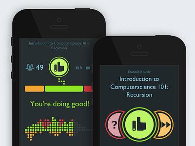 speakr.io  flat mobile ui html5 webapp visualization