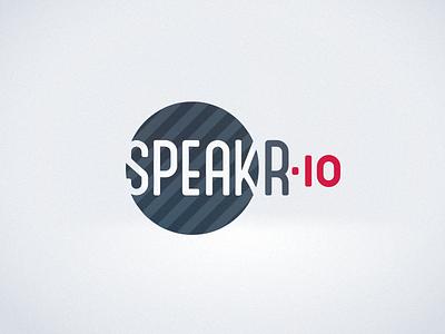 speakr.io Logo branding logo flat