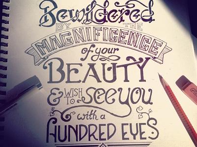 Bewildered lettering calligraphy quote rumi type handwritten typography