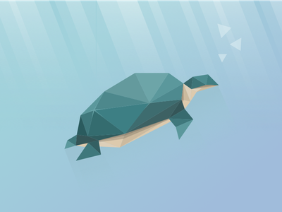 summer.ai Logo low poly bubble ocean water illustration logo animal turtle polygon poly