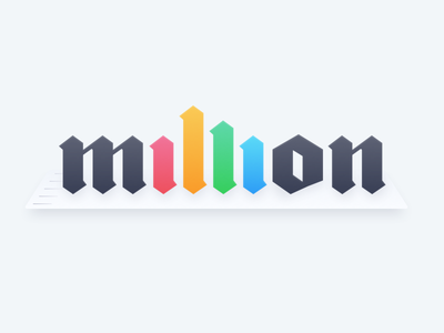 A Million Spreadsheets bar chart data spreadsheet typography logo