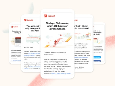 Todoist Marketing Emails email email design marketing todoist task management todo productivity