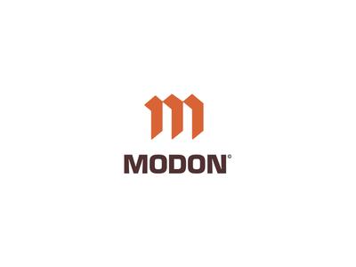 MODON l constructions negativespace constructions branding identity logodesign