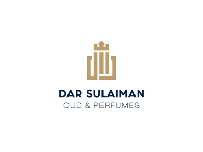 Dar Suleiman logo l Dar Suleiman for Oud and Perfumes brand perfumes oud royal luxury perfume identity branding logodesign