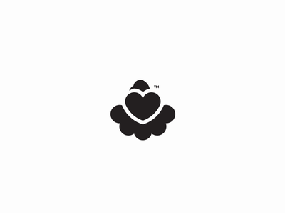 unused Dove logo unused simple mark logodesign identity grid forsale branding brand bird