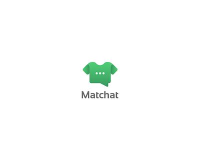 Matchat l logo design. football soccer sports identity branding logos chatbubble logo